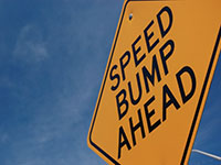 Sales speed bumps