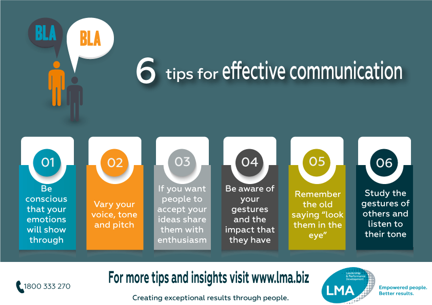 6 tips for effective communication